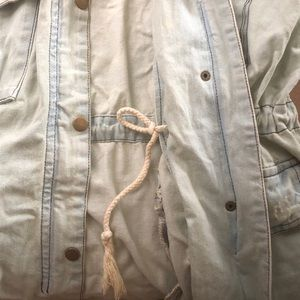Forever 21 Jackets & Coats - Chambray anorak/cargo vest
